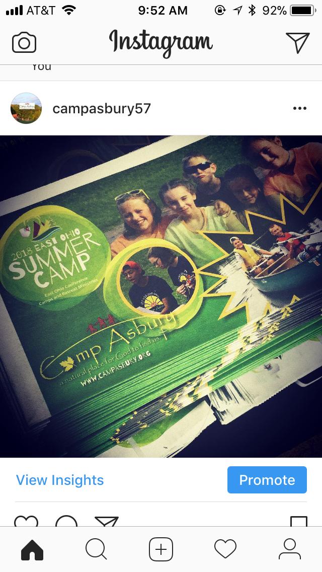 Camp Asbury is on Instagram!