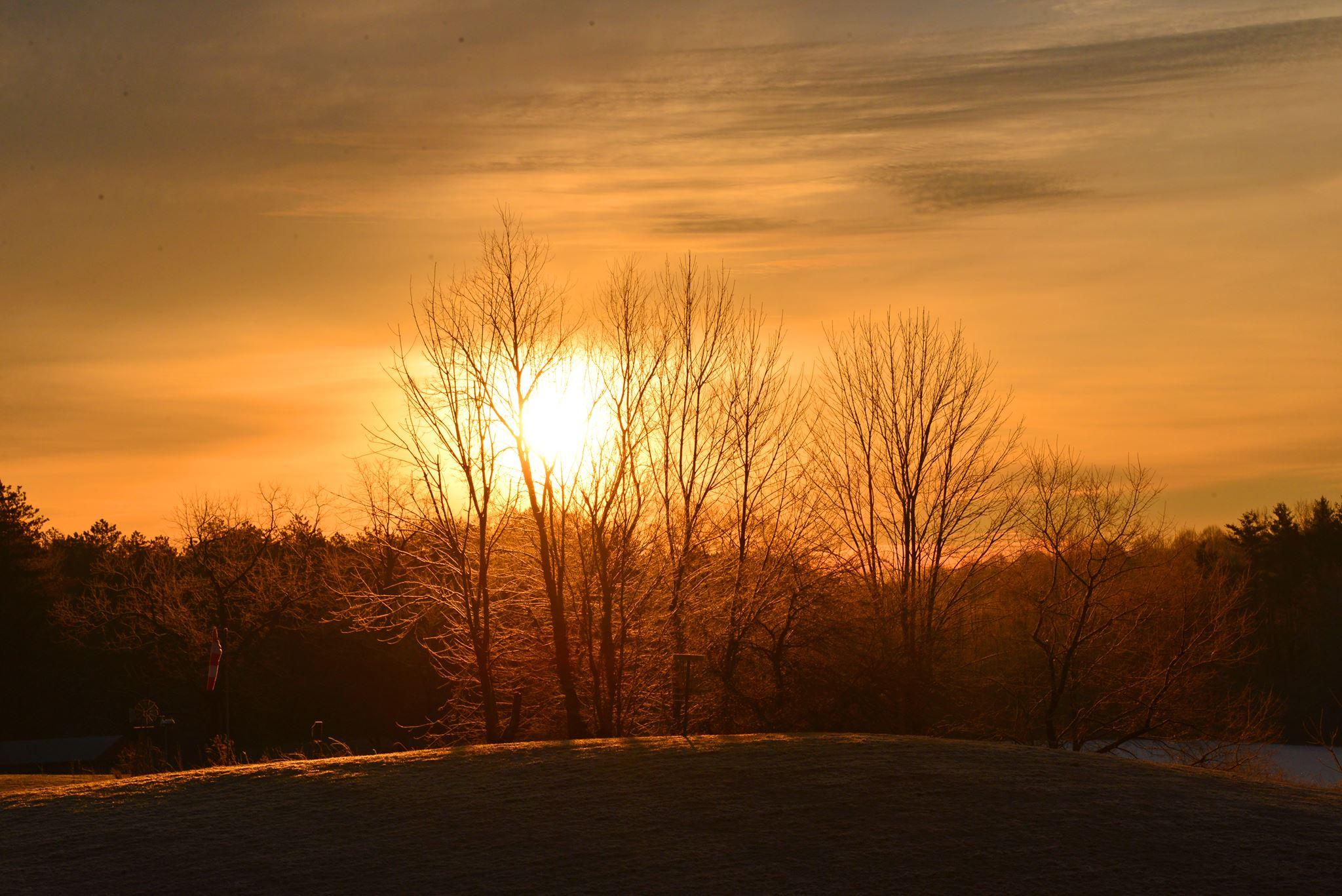 Winter Morning at Camp Asbury