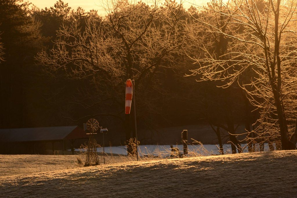 Winter Morning At Camp Asbury Campasbury4